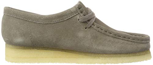 Clarks Originals Derbys Gris Femme Wallabee Grey Suede ww7r1qZx