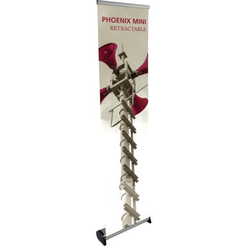 Exhibitor's Handbook PHX-400-S Phoenix Mini Retractable Banner Stand Base, Silver
