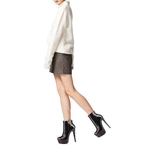 da 109 Schwarz posteriore scarpe J Women alto Tacco Zip matte sera Hidden cerniera Platform Eks con n6E80PSgg