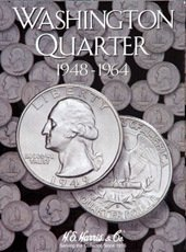 Coin Folder Book Washington Quarter 1948-1964 HE Harris New by H.E. Harris