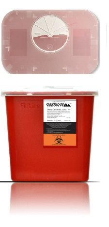 2 Gallon Size | Sharps and Biohazard Waste Disposal Container (Pack of 2) by Oakridge Products by OakRidge Products (Image #5)