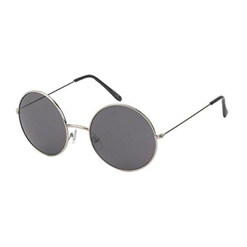 Gris Net metal de estilo redondas grandes entonado de Chic UV 400 gafas largo Lennon embarcadero sol de Gafas de Uw1yPdqF