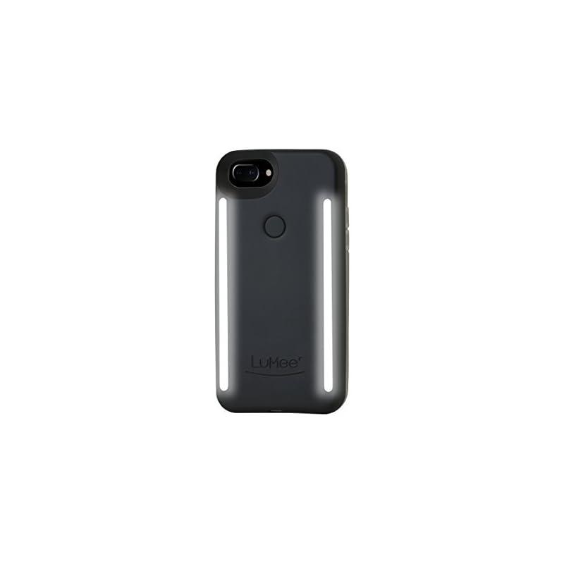 LuMee Duo Phone Case, Black Matte   Fron