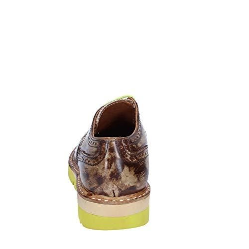 Hombre Elegantes Italy Marrón In 2 Cuero Zapatos Made OaFUz