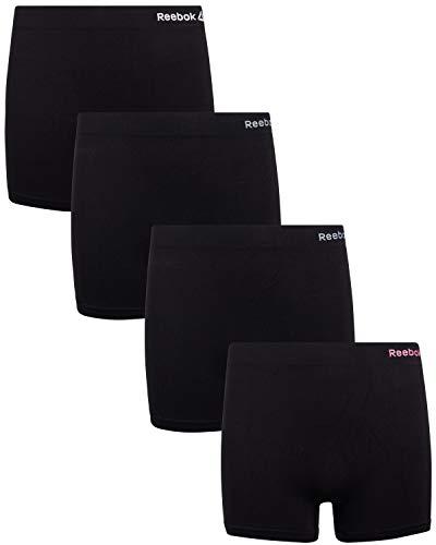 Reebok Girls Active Seamless Cartwheel Shorts (4 Pack), All Black, Large / 12-14