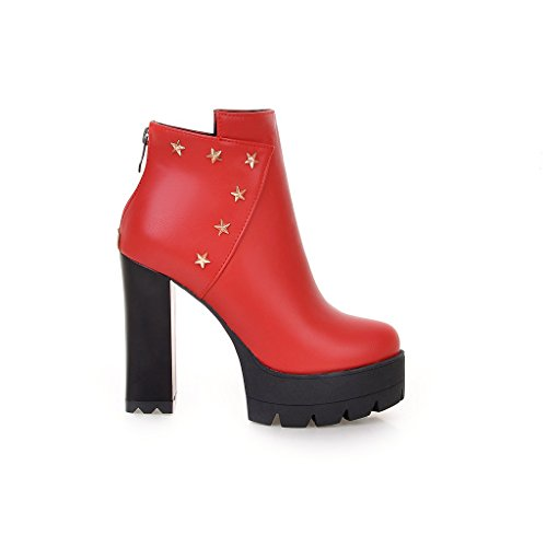 Fashion HeelAnkle Boots - Botas mujer Red