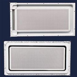 Whirlpool 8185035 Microwave Door Inner Panel Assembly (White) Genuine Original Equipment Manufacturer (OEM) Part White - Refrigerator Inner Door Panel