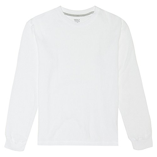 French Toast Boys' Little Long Sleeve Solid Thermal, White, (Boys Long Sleeve Thermal Shirt)