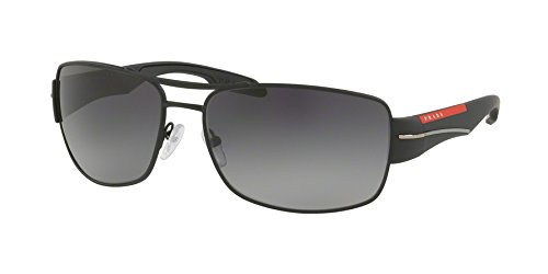 Prada Linea Rossa  Men's 0PS 53NS Black Rubber/Polarized Grey Gradient One - Polarized Linea Prada Rossa