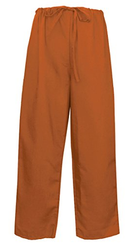 Burnt Orange Scrubs Pants BOTTOMS Lg Burnt Orange - Apparel Scrubs For HIM or HE (Burnt Orange Ut)