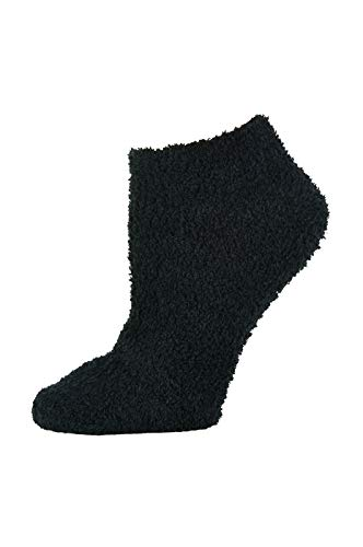 Ladies' Soft & Cozy Winter Plush No Show Socks (9-11