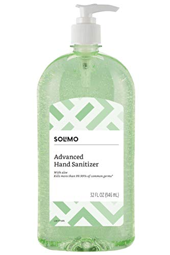 Amazon Brand - Solimo Hand Sanitizer with Vitamin E and Aloe, 32 Fl Oz (Pack of 1)