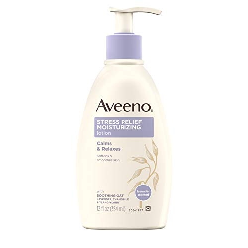 - Aveeno Stress Relief Moisturizing Body Lotion with Lavender, Natural Oatmeal and Chamomile & Ylang-Ylang Essential Oils to Calm & Relax, 12 fl. oz