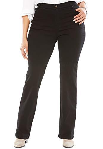 (Woman Within Women's Plus Size Bootcut Stretch Jean - Black Denim, 18 W)