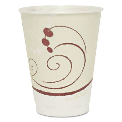 Trophy Plus Dual Temperature Insulated Cups, 12 oz, Symphony Design, 50/Pack