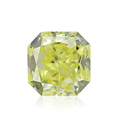 0.47Cts Fancy Intense Yellow Loose Diamond Natural Color Radiant Cut IGI Cert
