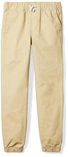 Spotted Zebra Little Boys' Woven Joggers, Khaki, S