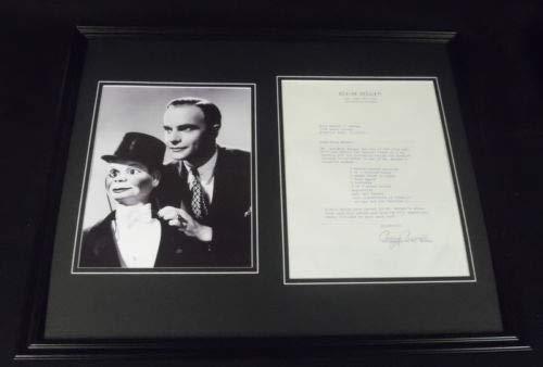 (Edgar Bergen 16x20 Framed ORIGINAL Potato Salad Recipe & Photo Display)