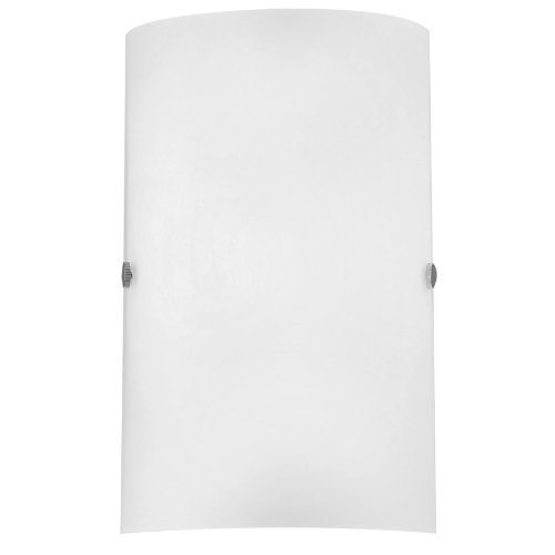 Eglo Troy Model Wall Light 85979 / Steel Nickel-Matt / Glass Satinised White / HV 1 x E14 max. 60W / excluding Bulb / L 18 cm H 25 cm A 7.5 cm