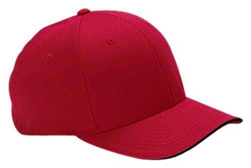 - Flexfit Wooly Cap with Sandwich Bill - RED/NAVY - S/M
