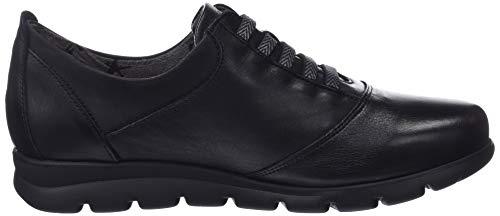 Cordones Negro Fluchos Susan Zapatos Derby Mujer Negro para Sugar de Nobuck Negro vStS6gq