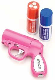 Mace Pepper Spray Pepper Gun (Pink), Outdoor Stuffs