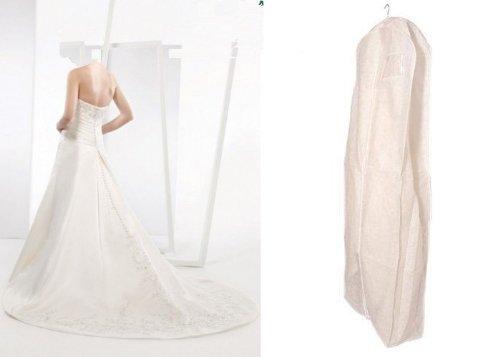 HBCOLLECTION Transpirable funda para vestido de novia, ropa, extra ...