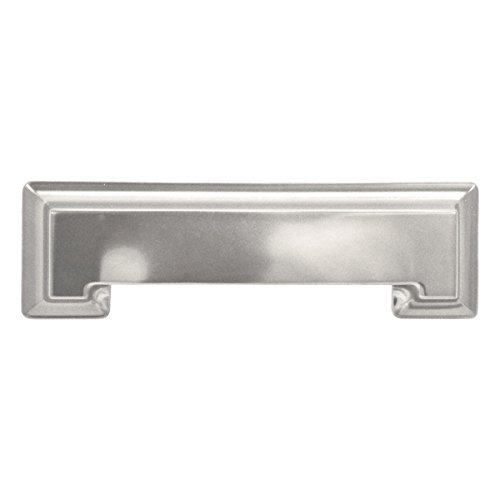 Stainless Steel Cup Pulls - Hickory Hardware P3013-SS Studio Collection Cup Cabinet Pull, 3-Inch, Stainless Steel