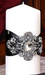 Pewter Holder Candle Vine (Ivy Lane Design Wedding Accessories Elizabeth Pillar Unity Candle, Ivory)