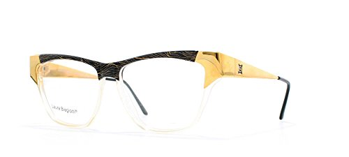 Laura Biagiotti V94 46V Black and Gold Authentic Women Vintage Eyeglasses - Laura Biagiotti Glasses