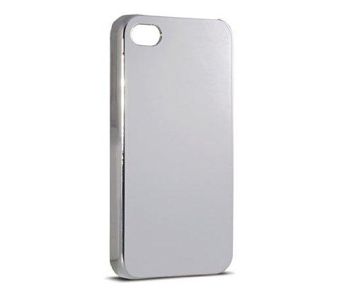 KSIX b0917car16Schutzhülle Glossy für Apple iPhone 4und Apple iPhone 4S, Silber