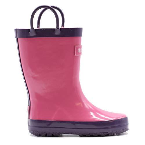 Mucky Wear Children's Rubber Rain Boot, Pink/Purple, 8T US Toddler
