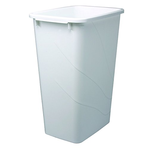 (Knape & Vogt QT50PB-W Replacement Trash Can, 21.56-Inch by 15.55-Inch by 11.13-Inch)
