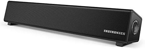 TaoTronics PC スピーカー Bluetooth 10W出力 小型 サウンドバー テレビ TV パソコンスピーカー デュアルパッシブラジエーター 壁掛け可 電源アダプター接続【12ヶ月+18ヶ月間国内安心保証】