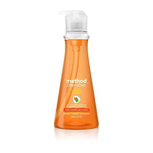 - Method, Dish Soap Pump Tangerine, 18 Fl Oz