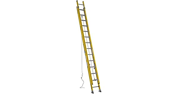 Escalera extensible, fibra de vidrio, 28 ft, de la industria: Amazon.es: Amazon.es