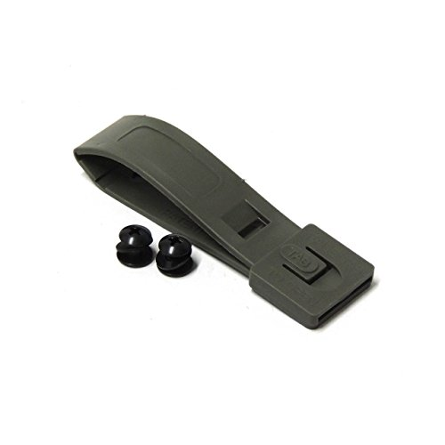 TACTICAL TAILOR – SHORT MALICE CLIP W/ MOUNTING HARDWARE FOR MOLLE ATTACHMENT (BLACK)