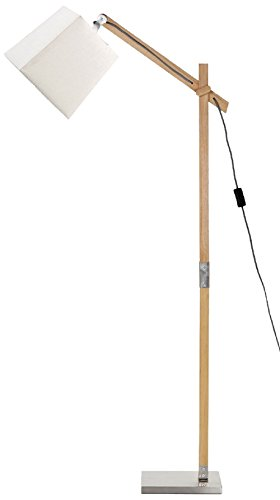 Mathias 3532215 Sandvik Stehlampe 60 W E27 230 V Weiszlig Holz Natur Durchmesser 22 Cm Houmlhe 135 Amazonde Beleuchtung