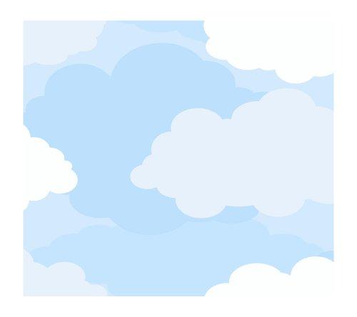 York Wallcoverings Just Kids KD1783 Cloud Sidewall Wallpaper, Light Blue (Border Cloud Wallpaper)