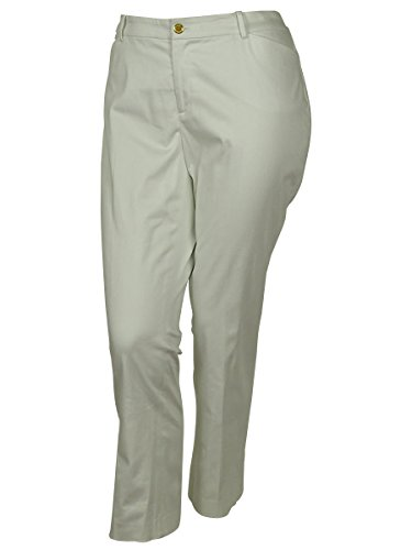 Lauren by Ralph Lauren Women's Pleated Back Pocketed Dress Pants (22W, White)
