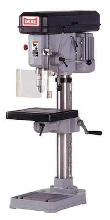 Bench Drill Press, Belt, 14-1/8'', 1/2HP, 120 by Dake