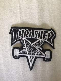 BLUE HAWAI ECUSSON Patches AUFNAHER Toppa THERMOCOLLANT - Thrasher SATANIQUE 9 * 8 CM