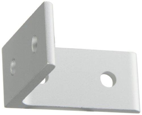 Faztek 15 Series Aluminum 6063-T6 4 Hole Inside Corner Bracket, Clear Anodize, 1-19/64