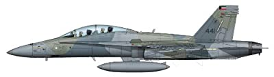 F/A-18D Hornet 1/72 Die Cast Model, #441, 9th Squadron, Kuwait Air Force, 1990s, by Hobby Master HA3524