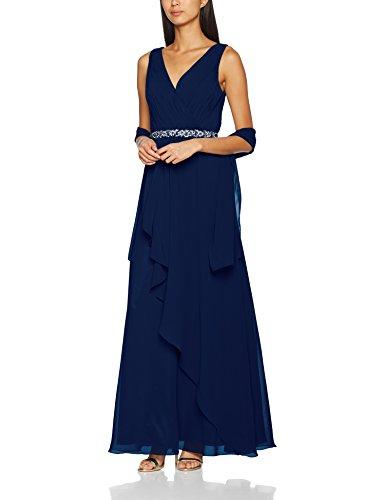 Mascara Front Navy Bleu Soire Robe Cross Pleat Femme de frx4vf5w