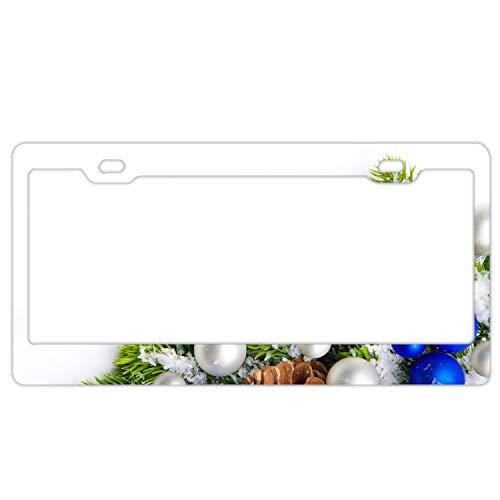 KSLIDS Holiday Christmas Ornaments Plate Frame Alumina Express Personalized Tag Holder