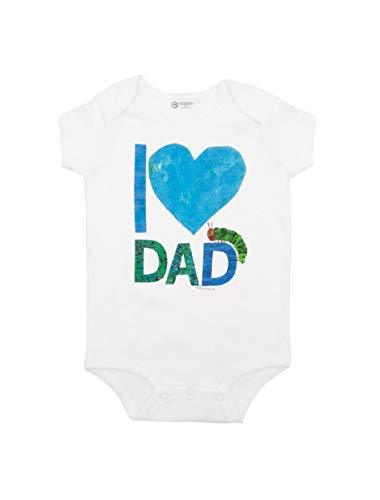Out of Print World of Eric Carle, The Very Hungry Caterpillar I Love Dad Baby Bodysuit 6 Months