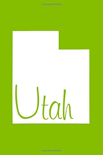 Download Utah - Lime Green Lined Notebook with Margins: 101 Pages, Medium Ruled, 6 x 9 Journal, Soft Cover pdf epub