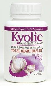 Kyolic ail vieilli Extrait totale Formule Heart Health 108 à 100 Capsules