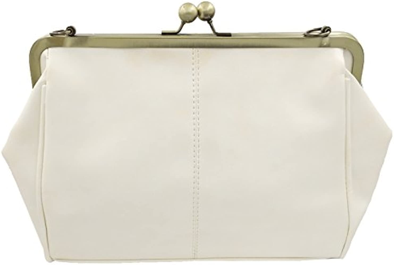 C/&L Girls PU Imitation Patent Leather Shoulder Strap Purse White